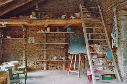atelier poterie lucante