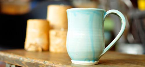 mug avec émail de poterie