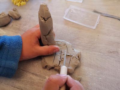 poterie pour enfant dessin libre