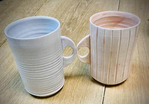 tasses avec émaux céramique