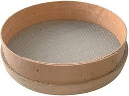 tamis poterie en bois