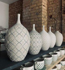 Décor poire poterie